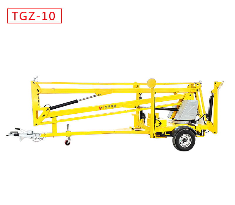 10米拖车式折臂升降机